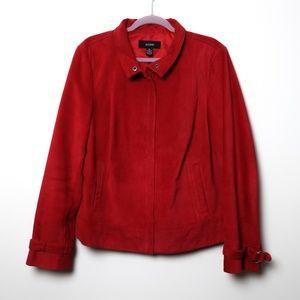 Alfani | Dyed Leather Zip Up Jacket XL